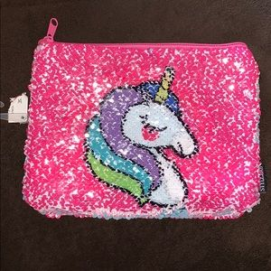 🌸Justice | pink reversible sequin unicorn bag